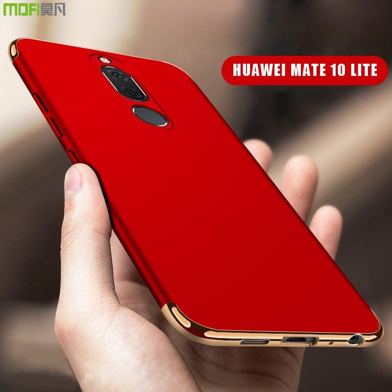 Huawei compagnon 10 lite Cas Couverture MOFI Nova 2i Dur PC Cas de Couverture Arrière pour compagnon 10 lite Pleine Couverture Honneur 9i de luxe 3 en 1 Dur Cas