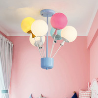 Lovely Kid's Room Colorful Balloons Pendant Light Fashion Girls Bedroom Decor Led Hanging Light Fixtures Free Shipping