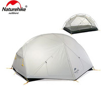 Naturehike Mongar 3 Season Camping Tent Fishing Hiking 20D Nylon Fabic Double Layer Waterproof Tent For