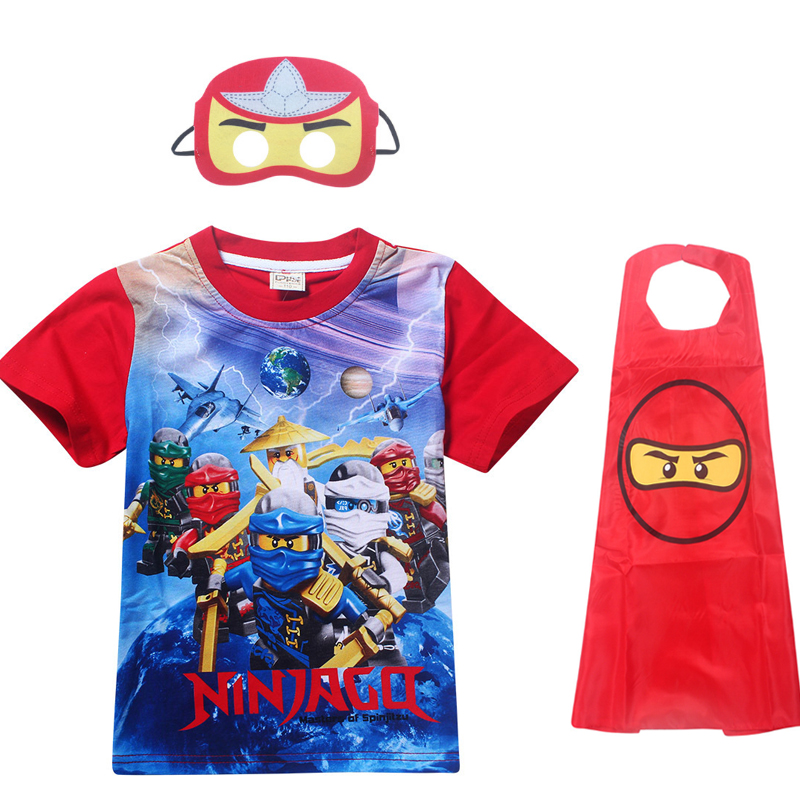 Ninjago-Costumes T-Shirt Moana Clothing Boys Tees Print Kids Children Cartoon Summer