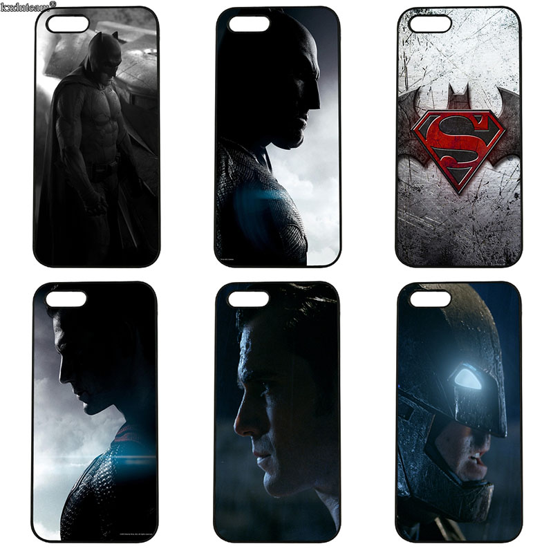 Batman v Superman Cell Phone Case Hard PC Plastic Cover Fitted for iphone 8 7 6 6S Plus X 5S 5C 5 SE 4 4S iPod Touch 4 5 6 Shell