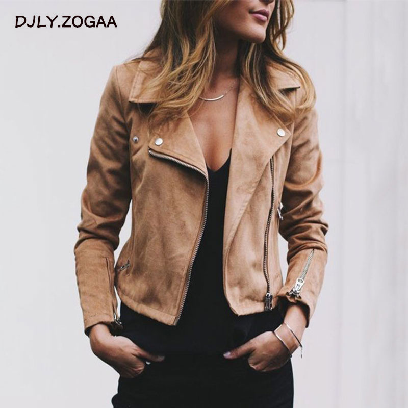 ZOGAA Autumn 2019 Winter New Women's Lapel Diagonal Zipper Short Coat Jacket Ladies Top Women Jacket