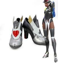 купить Hot Game OW Symmetra Satya Vaswani Cosplay Boots Shoes Custom Made Halloween Wear по цене 2930.25 рублей