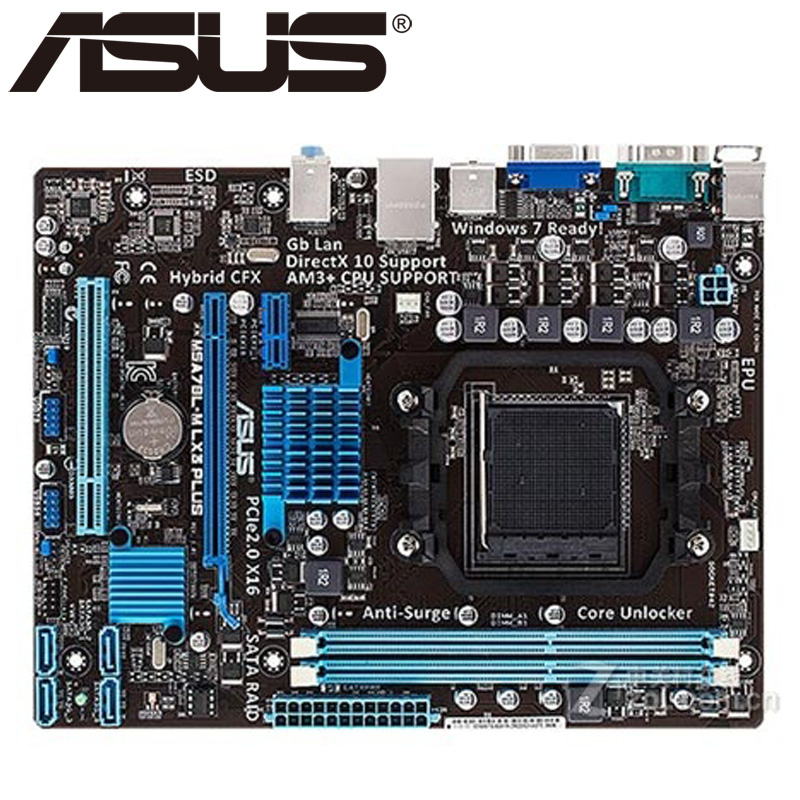 Asus Desktop Mainboard BIOS 780l-Socket DDR3 M5A78L-M Lx3-Plus Original Used Am3  Micro-Atx title=