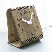 Creative Wooden Table Clock Modern Design Bedroom Decoration Desk Clocks for Student Office Desktop Watch Home Decor