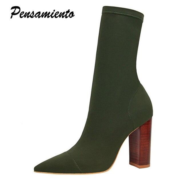 star bois style femmes bottes à talons automne épais de de épais vintage 76a86f