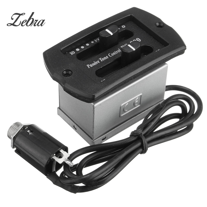 Zebra Hot 2-Bands EQ Guitar Equalizer Acoustic Guitar PS900 Tuner Preamp Piezo Pickup Sets With 2.5mm Plug Cable Guitar Parts intelligent detection system water leak detection equipment water leak detection devices water leak detection