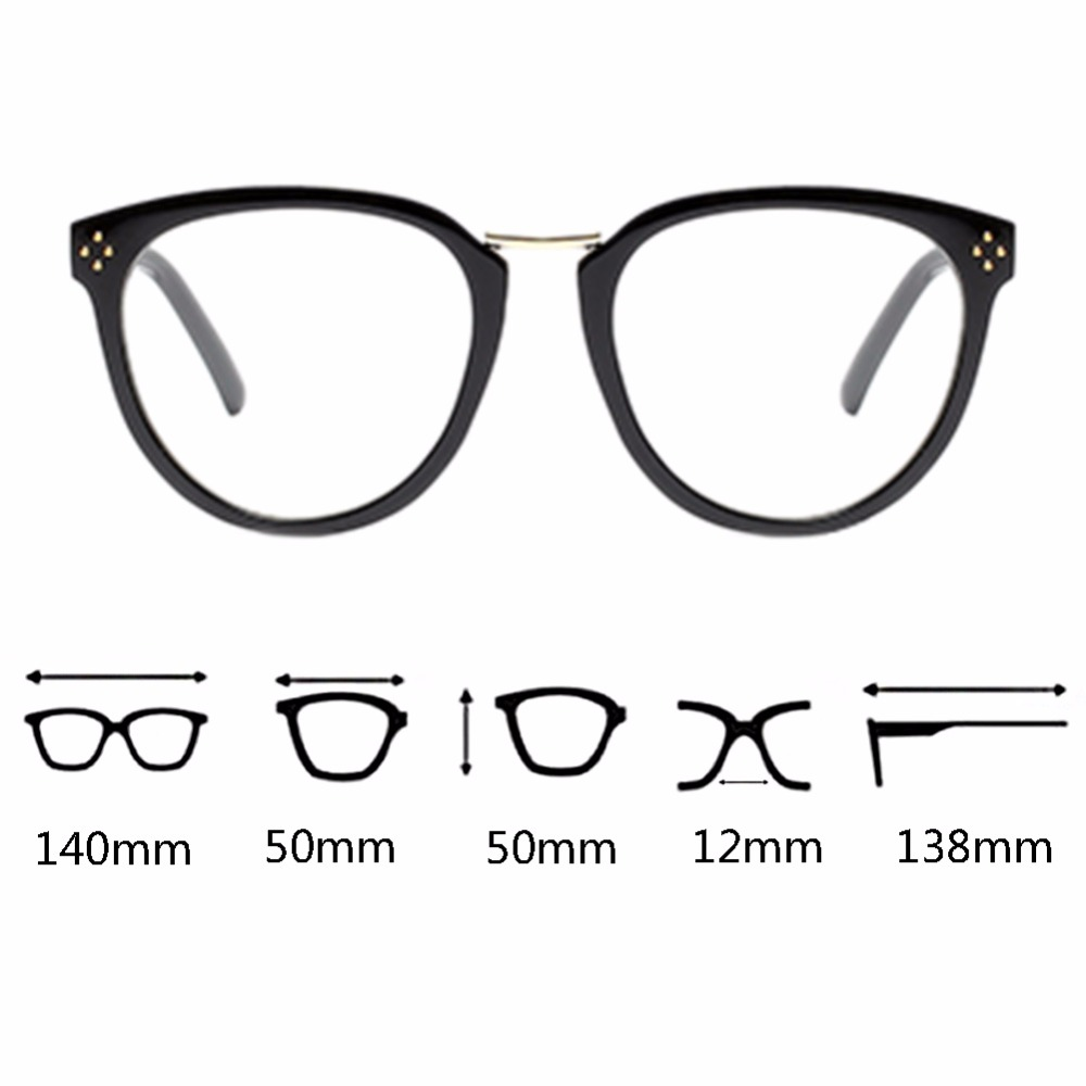 84bf80ac7a 2019 Oval Plastic Frame Retro Full Frame Non Prescription Eyewear ...