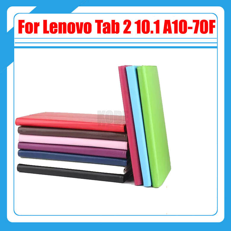 3 in 1 , Pu Leather Stand Tablet Cover Case For Lenovo Tab 2 10.1 A10-70 A10-70L A10-70F + Screen Protector + Stylus