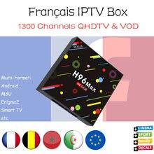 H96 MAX RK3328 4g/g Android 7.1 caixa de tv com 1300 Neotv 32 2000 VOD 4 k França bélgica árabe IPTV set top box pk ahdtv subtv