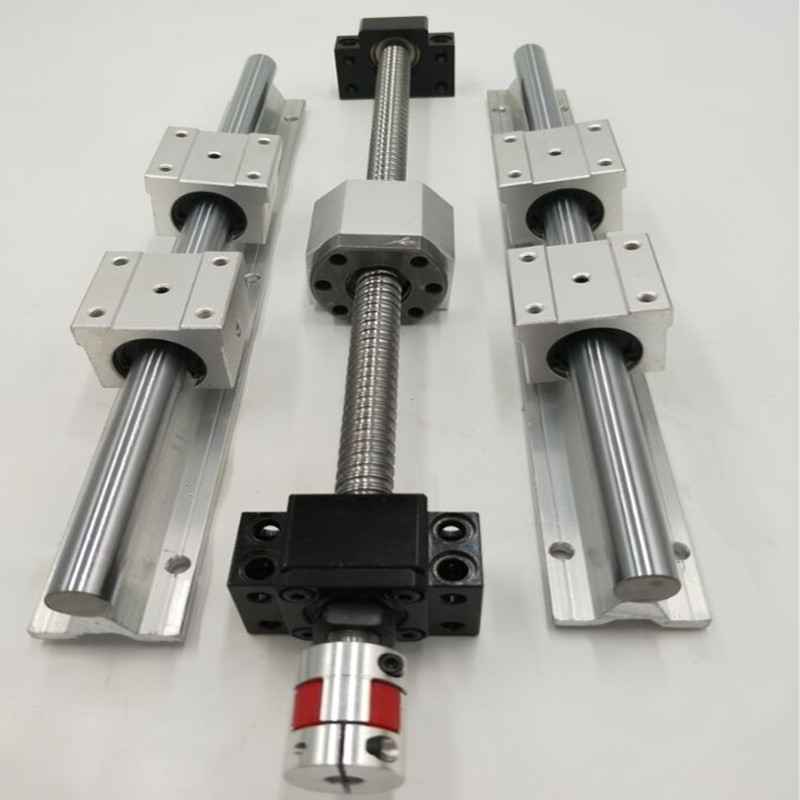 3 sets supported rails  SBR16 -400/700/700mm  +2 ballscrews RM1605-750/750mm+3BK/BF12 +3 couplers 6 sets sbr16 300 600 700mm linear rails 4 pcs 1605 350 600 750mm ballscrews bk12bf12 shaft coupling