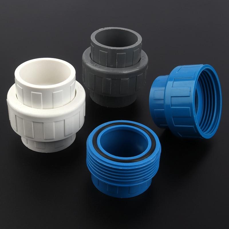 10 stks/partij Innerlijke Dia.50mm PVC Unie Connector Tuin Irrigatie Fittings Waterleiding Adapter Rechte Plug Tube Quick Joint-in Wateraansluitingen voor de tuin van Huis & Tuin op  Groep 1