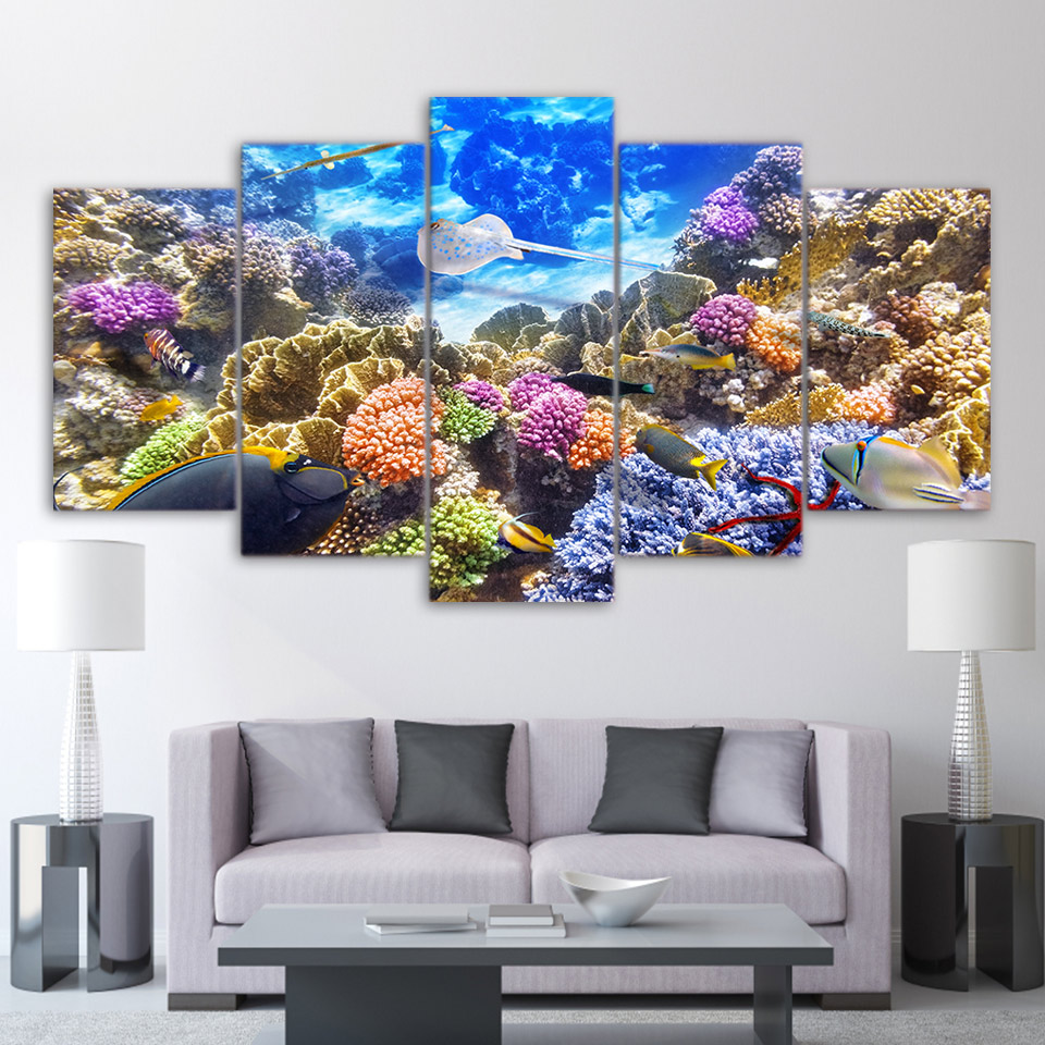 High Quality Canvas Painting Living Room Wall Poster 5 Panel Falcon ...