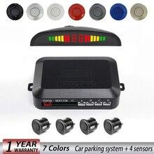 Автомобильный СВЕТОДИОДНЫЙ парковочный датчик, Парктроник, дисплей, 4 датчика s, помощь при обратном копировании, радар-детектор, светильник, система сердечного монитора