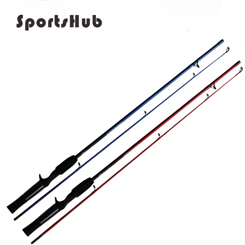 "SPORTSHUB 1.68M 5'6 ""Zoll Medium FRP Casting Angelrute Glas Stahl Angelruten River Lake Lures Casting Rods FT0008"