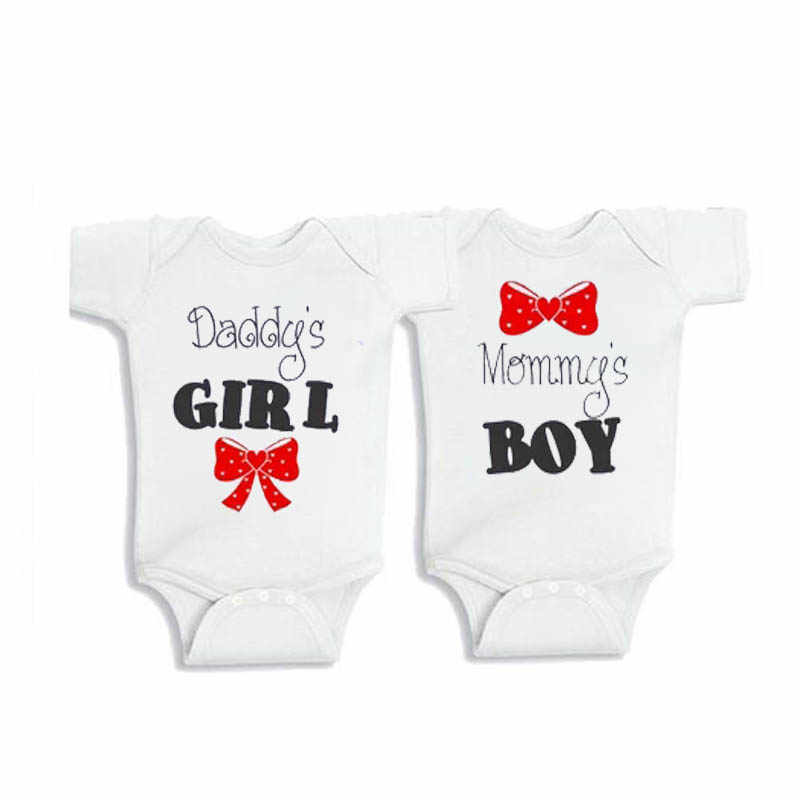 fa185b4c5 Detail Feedback Questions about YSCULBUTOL Baby Twins baby gifts Daddy's  girl Mommy's boy outfits Twin baby shower Twin baby bodysuit on  Aliexpress.com ...