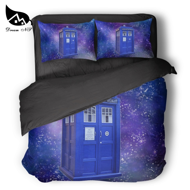 Dream NS Doctor Who Bedding Kit Time Lord Duvet Set TARDIS Bedclothes Pillowcase Customized Home Textiles Bed Set