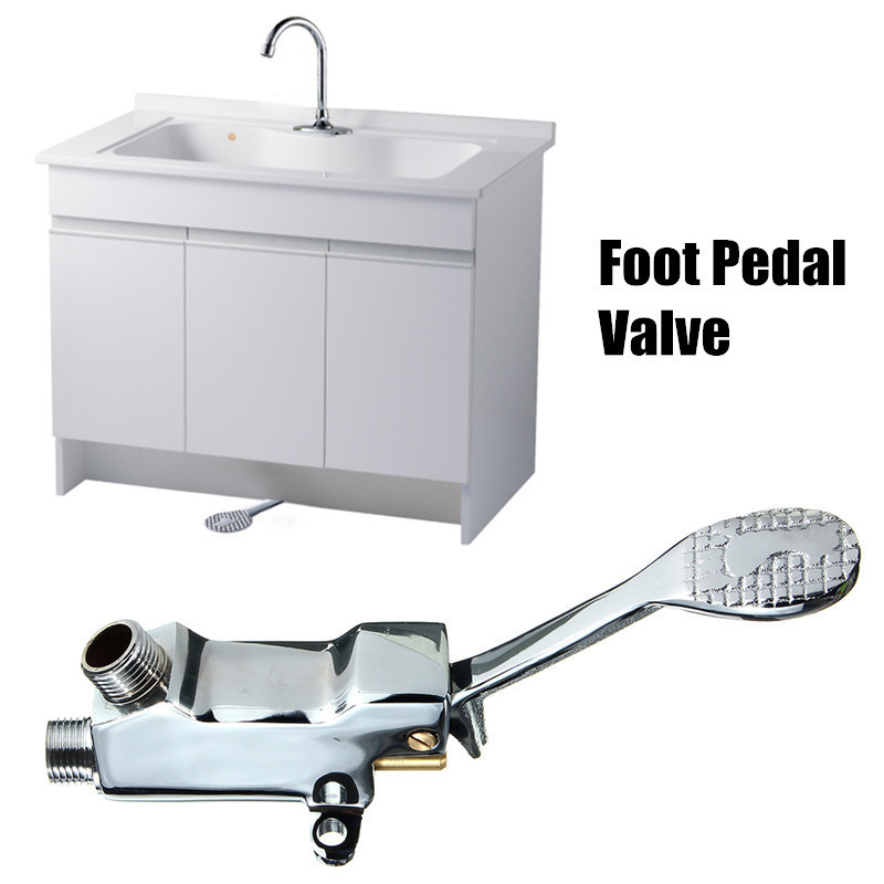 hotel control hospital model water perfect single switch by ideas nokton sink faucets pedal foot valve faucet basin
