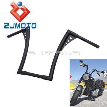 """Black Custom Motorcycle 1-1/4"""" 16"""" Rise Handlebars For Harley FLST FXST Sportster XL Ape Hangers Bar Fat Bars"""