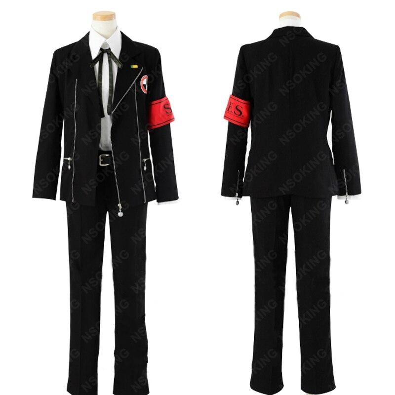 Shin Megami Tensei Persona 3 Minato Arisato Junpei Iori homme uniforme scolaire Cosplay Costume Sur Mesure