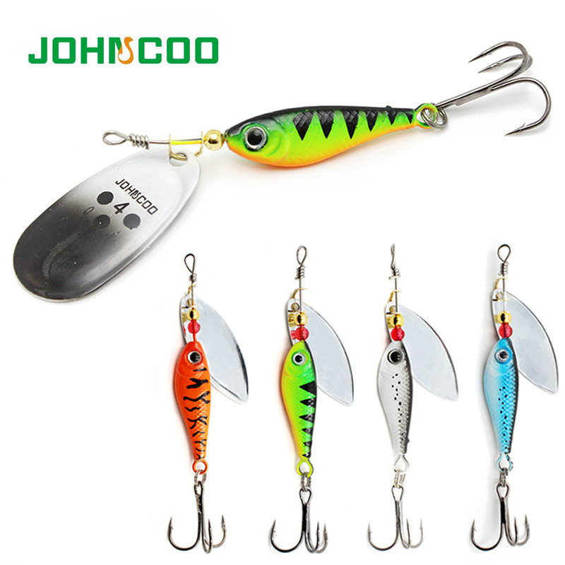 Johncoo Fishing Lure Spinner Bait 2pcs/lot Metal Spoon  11g 15g 20g Fishing Spinner Longcast Metal Lure For Pike Bass Perch