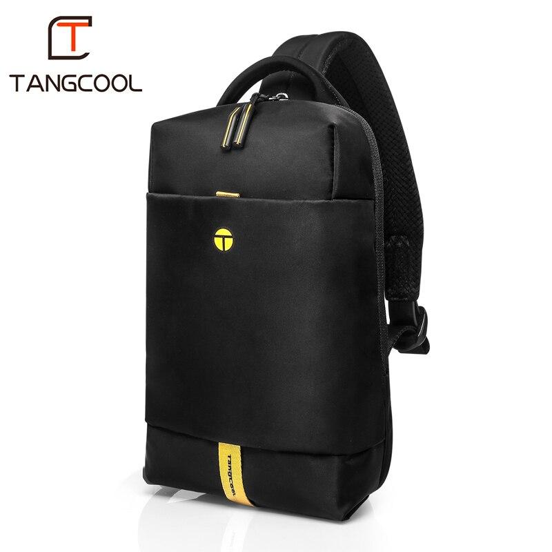 Tangcool tout nouveau sac de poitrine homme mode loisirs étanche homme Nylon Style coréen sac à bandoulière pour étudiant adolescent sac fourre-tout