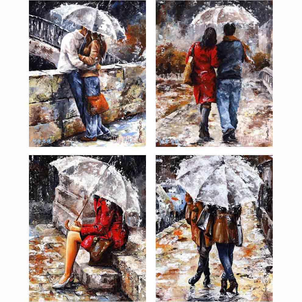 5d Diy Διαμάντι Ζωγραφική Kit Πλατεία Διαμάντι Rhinestones Σταυρός Kit Stitch Διαμάντι Κεντήματα Μωσαϊκό Lovers φιλί Χειροποίητα