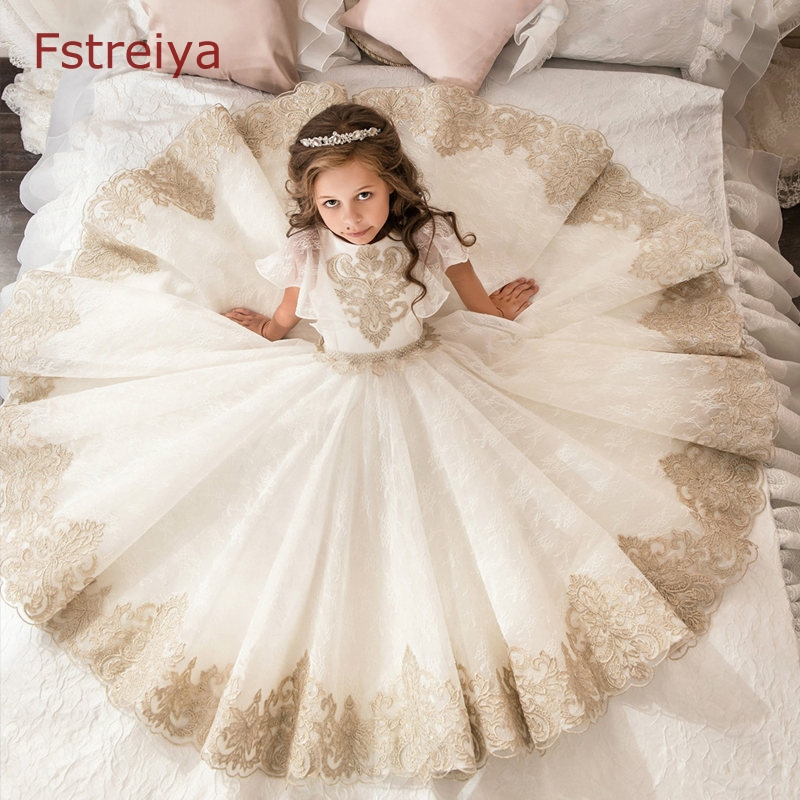 Custom baby girls party dress kids christmas dress for girl princess dress 2018 children belle clothes teenage girl costume