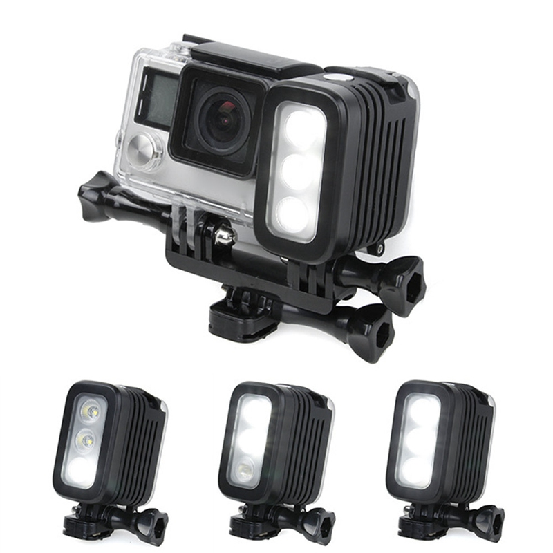30 meters underwater waterproof diving led gopro led light spot lamp for gopro hero 5 4 3 3 2. Black Bedroom Furniture Sets. Home Design Ideas