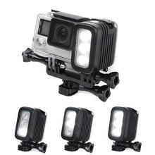 30 metros à prova d' água underwater mergulho gopro led spot light lâmpada led para gopro hero 5 4 3 + 3 2 xiaoyi sjcam esporte câmeras
