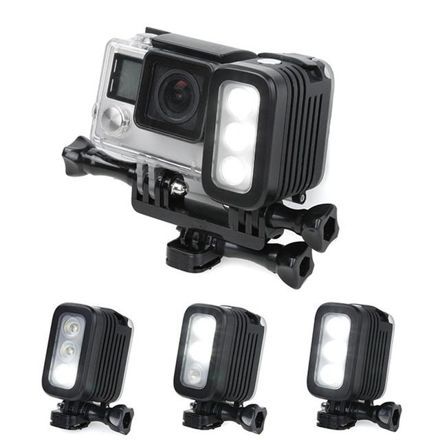 GoPro Acessórios 5 Metros de Mergulho Subaquática À Prova D' Água LED Flash Light Spot lâmpada para câmera gopro hero 4 3 + 3 2 sjcam yi