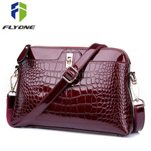 Купить с кэшбэком FLYONE Brand Shoulder Bag Women Handbags Crocodile Leather Fashion Shopper Totes Female Luxurious Gift for Girls Evening Clutch