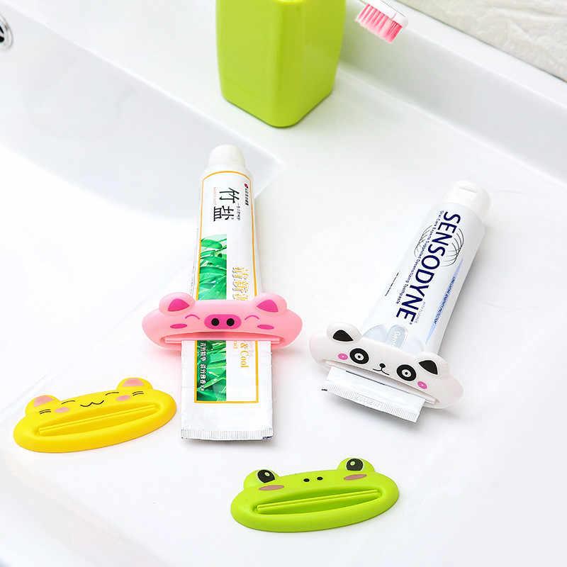 1 قطعة Mrosaa ABS البلاستيك متعددة الوظائف لطيف الحيوان معجون الأسنان عصارة المنزل الحمام أنبوب منظف للوجه معجون الأسنان موزع
