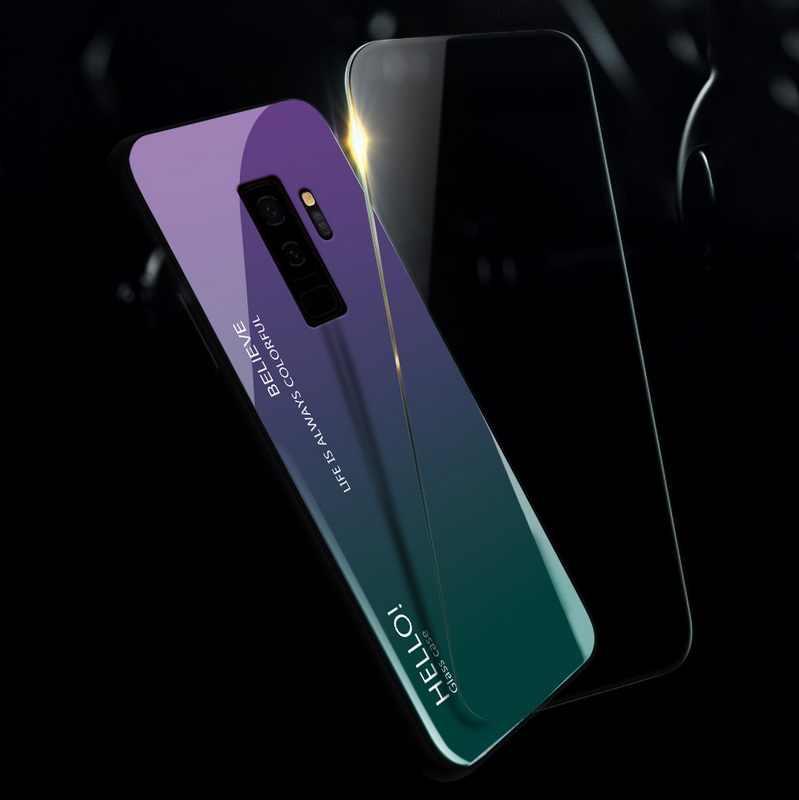 Gradiente Caixa De Vidro Temperado Para Samsung Galaxy A50 A70 A30 A20 Nota 10 9 8 S10 S9 S8 Plus S7 Borda A7 A9 2018 A6 A8 Tampa Traseira