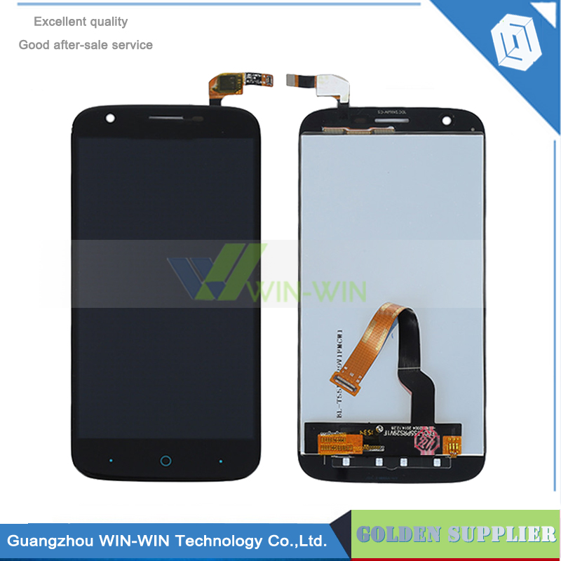 Подробнее о 5PCS/Lot New Black lcd For ZTE Grand X3 Z959 LCD Display with Touch Screen + Digitizer Assembly Replacement Free Shipping new for zte b880 lcd display with touch screen digitizer assembly black free shipping