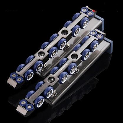 ФОТО 12wheels Side mounted sliding door rail pulley / wood gantry crane rail moving wheels hanging wheel hanging slide -223mm