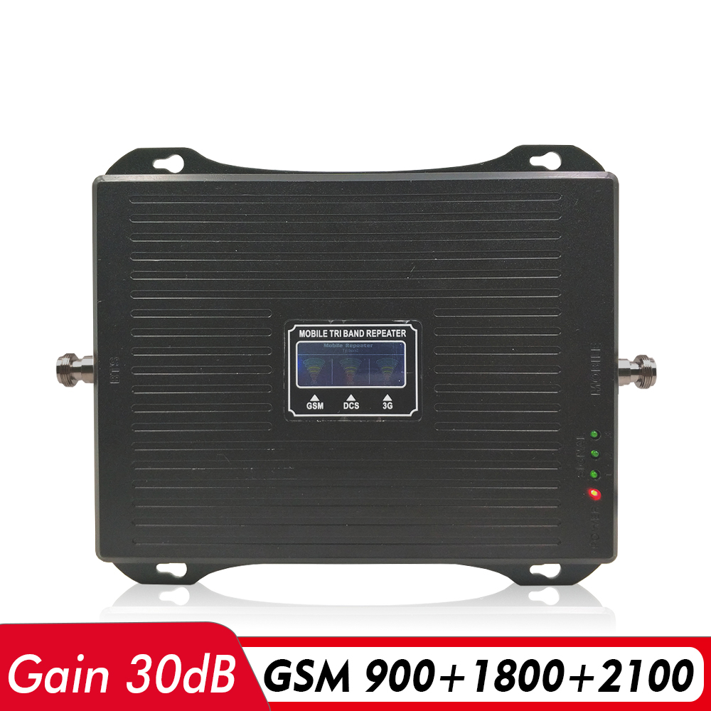 2G 3G 4G Tri Band Signal Booster GSM 900+DCS/LTE 1800+UMTS/WCDMA 2100 Mobile Signal Repeater 900 1800 2100 Cellular Amplifier2G 3G 4G Tri Band Signal Booster GSM 900+DCS/LTE 1800+UMTS/WCDMA 2100 Mobile Signal Repeater 900 1800 2100 Cellular Amplifier