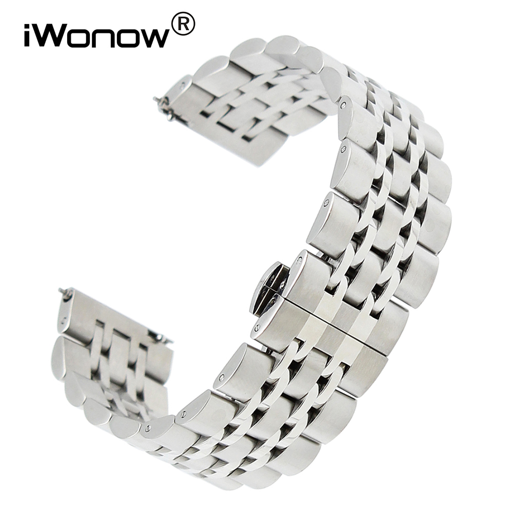 18mm 20mm 22mm Quick Release Stainless Steel Watchband for Omega Tissot Longines Mido Hamilton Watch Band Wrist Strap Bracelet 18mm 20mm 22mm quick release watch band butterfly buckle strap for tissot t035 prc 200 t055 t097 genuine leather wrist bracelet