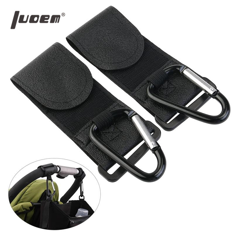 LUOEM 2pcs Buggy Pram Pushchair Stroller Metal Hanging Clip Hooks Shopping Bag Clip Baby Stroller Accessories