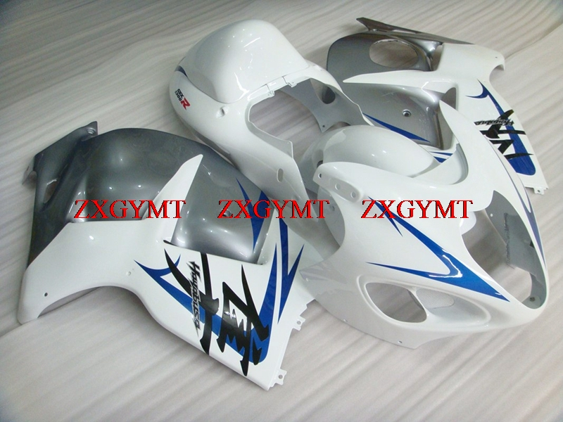 Plastic Fairings for HAYABUSA 1997 - 2007 Fairing Gsx 1300R 1999 Silvery White Blue Body Kits for Suzuki GSXR1300 99 00Plastic Fairings for HAYABUSA 1997 - 2007 Fairing Gsx 1300R 1999 Silvery White Blue Body Kits for Suzuki GSXR1300 99 00