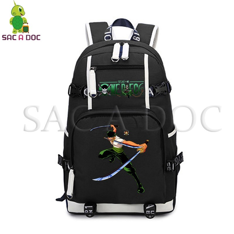 Anime One Piece Luffy Zoro Backpack for Teenagers Laptop Backpack College Student Large School Bags Women Men Travel RucksackAnime One Piece Luffy Zoro Backpack for Teenagers Laptop Backpack College Student Large School Bags Women Men Travel Rucksack