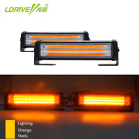 2 Red Yellow Blue Orange Car Truck LED COB Strobe Flash Flashing Warning Grille Light DRL