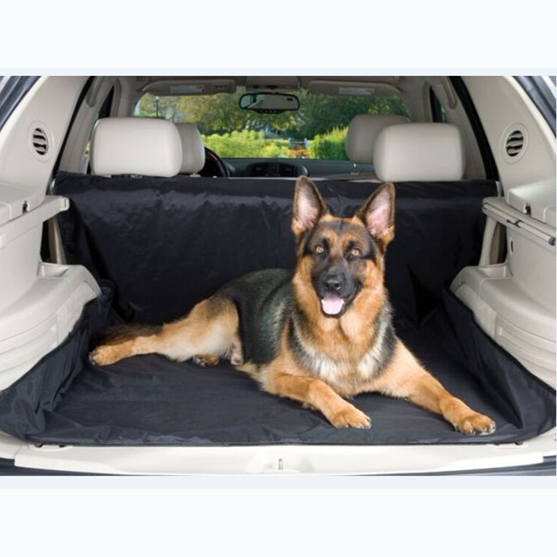 150x120cm Dog Car Trunk Cover Oxford Waterproof Car Back Seat Mat Pet Hammock For Travel Black