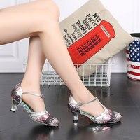 3สีสีชมพูสีฟ้าสีทองแทงโก้S Alsaห้องบอลรูมรองเท้าเต้นรำละตินสำหรับผู้หญิงสุภาพสตรี