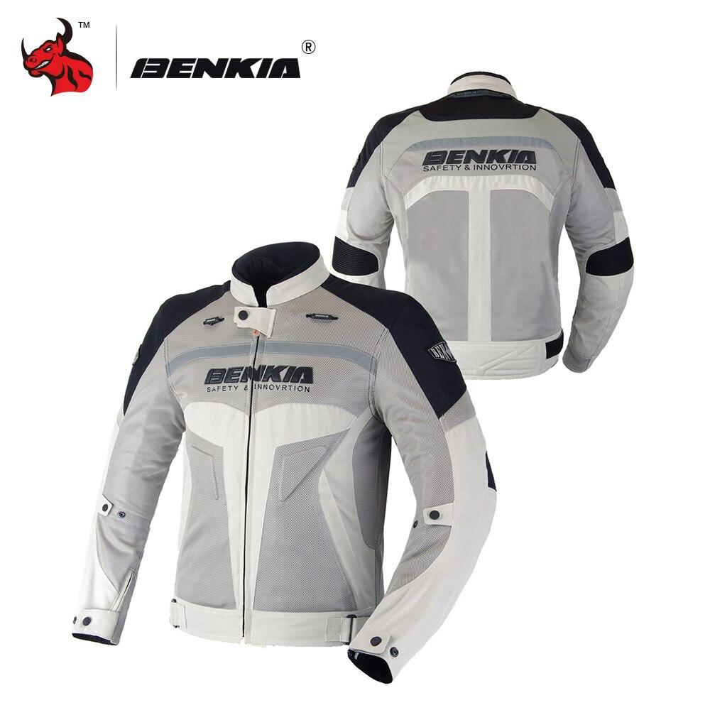 BENKIA Moto D'été Jcaket Hommes Racing Vêtements Printemps Et Automne Mesh Respirant Moto Vêtements De Protection