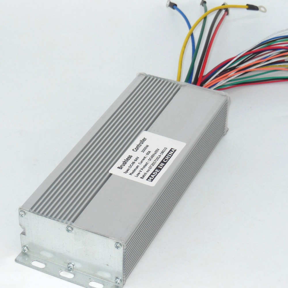 GREENTIME Capteur 48 v-84 v 2000 w 60A BLDC contrôleur de moteur e-bike brushless speed controller