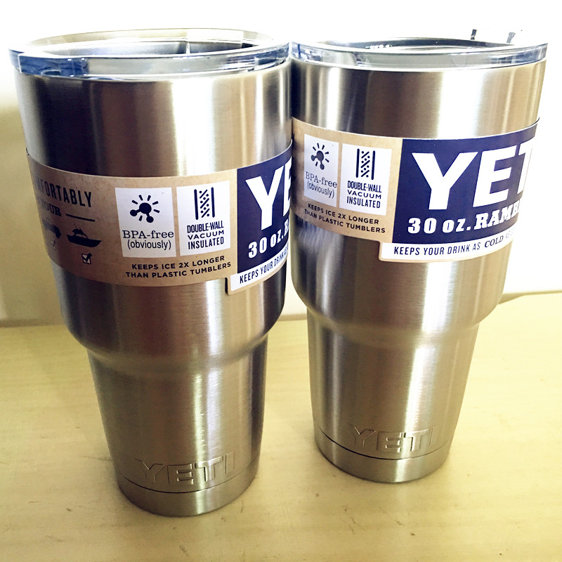 <font><b>6</b></font> Colors 2 Pcs Cheap 30 oz <font><b>YETI</b></font> Rambler <font><b>Tumbler</b></font> Cooler Cup Vacuum Insulated Vehicle Coffee Beer Mug Cups Free Shipping