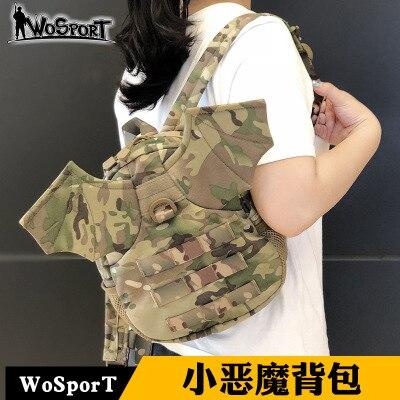 2019 nouveau Mini sac à dos tactique enfants filles petit démon sac à dos camouflage ailes militaires sac à dos randonnée Nylon imperméable
