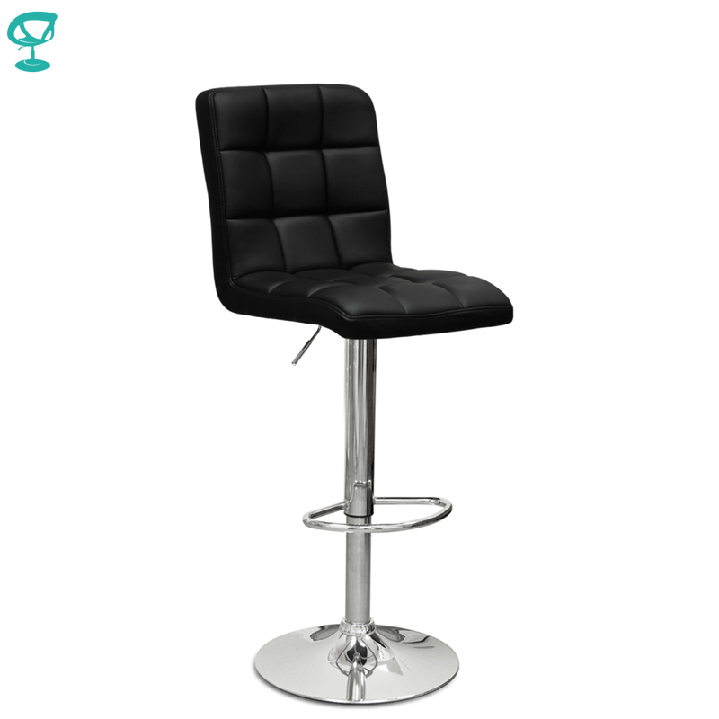 94506 Barneo N-48 Leather Kitchen Breakfast Bar Stool Swivel Bar Chair Black Color Free Shipping In Russia