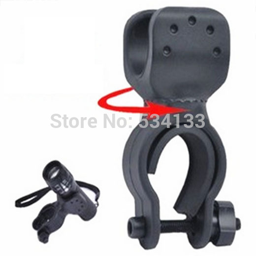 New 2015 hot Universal Black Rubber Bicycle Bike Mount Bracket Clip Clamp Holder For LED Light Lamp Flashlight Torc 360 degree swivel bicycle bike mount holder clip clamp for flashlight torch universal rubber bicycle bike mount bracket clip